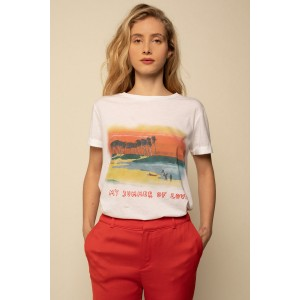 T-SHIRT PLAGE BLANC - TAILLE 1